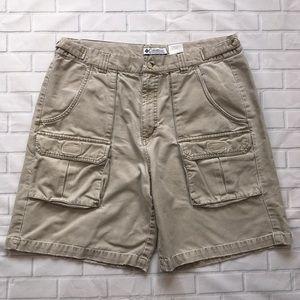 Men's Columbia Cargo Shorts Sz 36 beige Tan